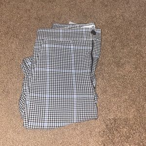 Hollister black and blue gingham pants